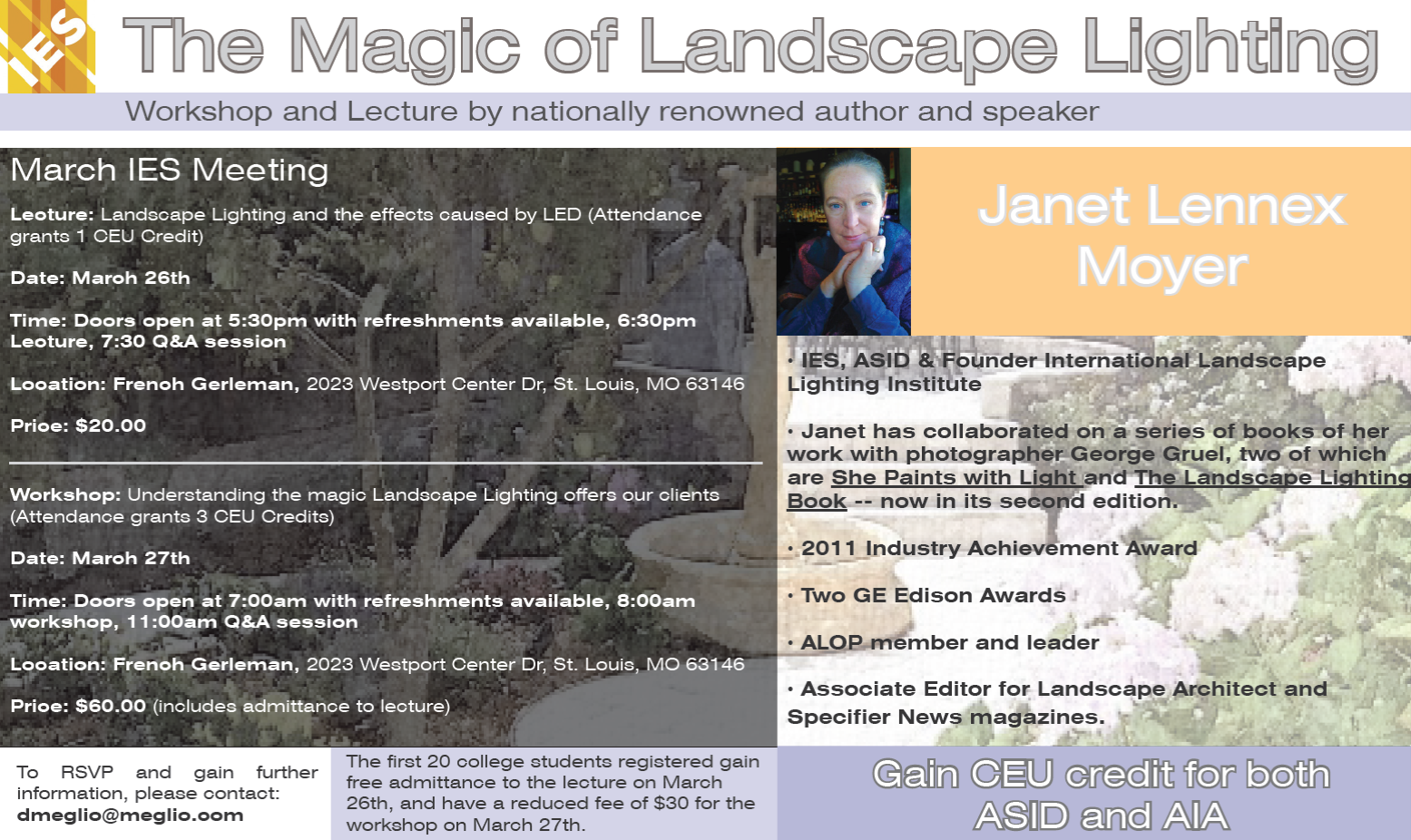 JANET MOYER LECTURE